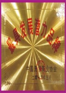 """中国洗染商业协会""""最具发展潜力品牌""""奖牌"""
