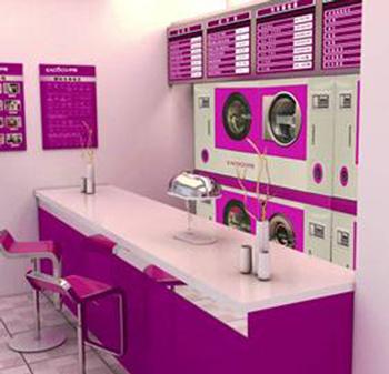 干洗店里面的机器