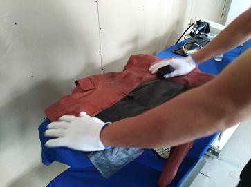 中小型干洗店需要洗涤染色的衣物