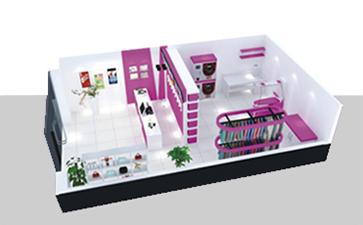 伊蔻干洗店迷你店平面设计图